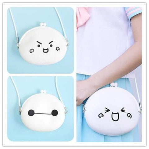 Baymax Emoji lil purse Crossbody Shoulder Bag SP152249 - SpreePicky  - 1