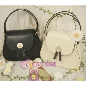 Beige/Black Card Captor Sakura Crown Hand Bag SP152380 - SpreePicky  - 1