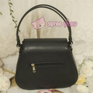 Beige/Black Card Captor Sakura Crown Hand Bag SP152380 - SpreePicky  - 6