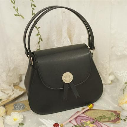 Beige/Black Card Captor Sakura Crown Hand Bag SP152380 - SpreePicky  - 5