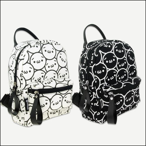 Beige/Black Emoji Backpack SP179047
