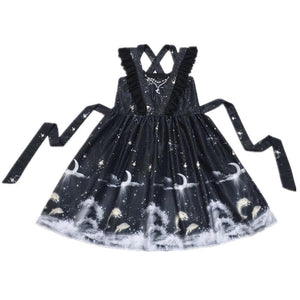 Beige/Black Fantasy Garden Birdcage Moonlight Dress SP1710395