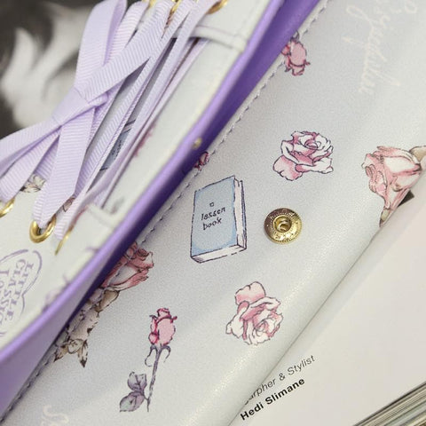 Beige/Light Purple Printing Wallet SP178659