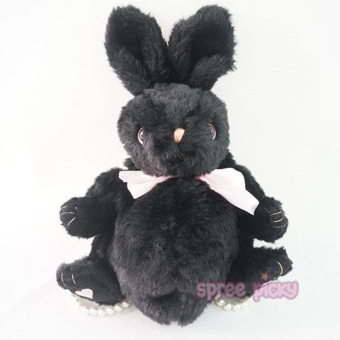 Beige/White/Black Lolita Kawaii Plush Rabbit Bunny Shoulder Bag/Handbag SP165650