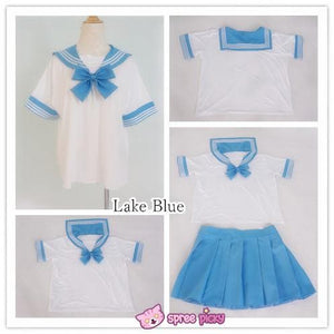 [10 Colors] XS-4XL J-fashion Stretch Sailor Seifuku Uniform Top Only SP151671 - SpreePicky  - 5