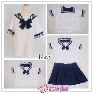 [10 Colors] XS-4XL J-fashion Stretch Sailor Seifuku Uniform Top Only SP151671 - SpreePicky  - 6