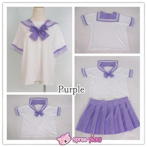 [10 Colors] XS-4XL J-fashion Stretch Sailor Seifuku Uniform Top Only SP151671 - SpreePicky  - 7