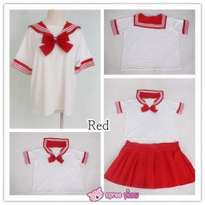 [10 Colors] XS-4XL J-fashion Stretch Sailor Seifuku Uniform Top Only SP151671 - SpreePicky  - 4