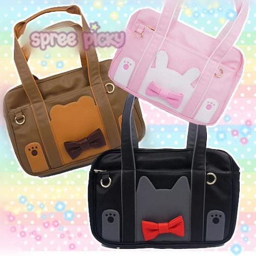 Black/Brown/Pink Rabbit/Bear/Kitty Cat Shoulder Bag SP166771