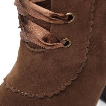 Black/Brown Winter Over Knees Long Boots Frye Boots SP141600 - SpreePicky  - 9