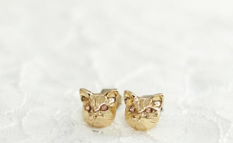 Black/Gold/Silver Cutie Cat Earrings SP153287 - SpreePicky  - 6