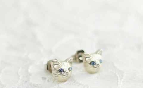 Black/Gold/Silver Cutie Cat Earrings SP153287 - SpreePicky  - 7