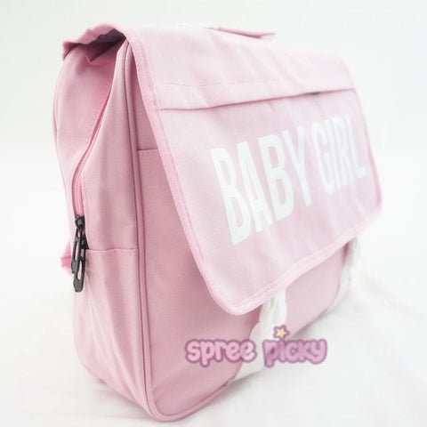 Black/Pink/Blue Baby Girl School Backpack SP166873