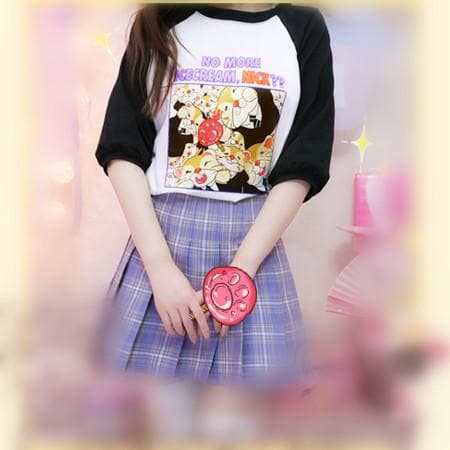 Black/Pink Adorable Animal Pattern T-Shirt SP166750