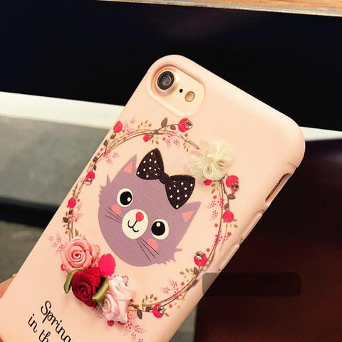 Black/Pink Garland Deer/Neko IPhone Phone Case SP178693