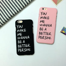 Load image into Gallery viewer, Black/Pink Letter Printing Phone Case SP166682