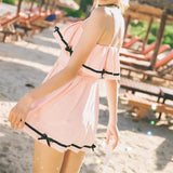 Black/Pink Sweet Bowknot Swimsuit SP1812387