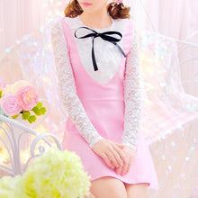 Load image into Gallery viewer, BlackPink Sweet Lace Bow Dress SP1811924