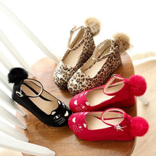 Load image into Gallery viewer, Black/Red/Leopard Print Lolita Kitty Shoes SP164824 - SpreePicky  - 5