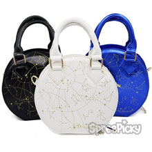 Load image into Gallery viewer, Black/White/Navy Constellation Astrology Shoulder Bag SP178837
