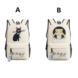 Black/White/Yellow/Navy Sailor Moon Luna Backpacks SP179426