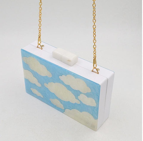 Black/White Cloud Shoulder Bag SP167229