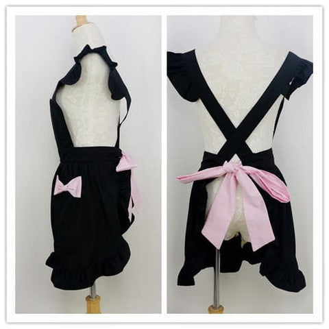 Black/White Cute Bows Maid Apron SP141183 - SpreePicky  - 3