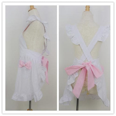 Black/White Cute Bows Maid Apron SP141183 - SpreePicky  - 4