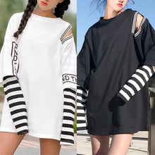 Load image into Gallery viewer, Black/White Gothic Retro Long Sleeve Shirt SP1812636