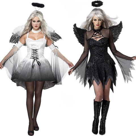 Black/White Halloween Devil Angel Costume SP1710282