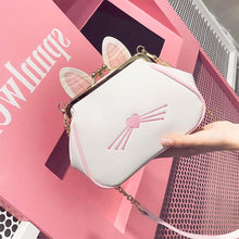 Load image into Gallery viewer, Black/White Kawaii Bunny Shell Cross Body Bag SP1710261