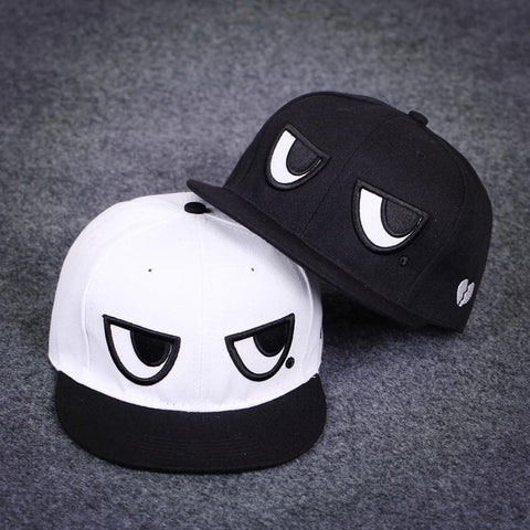 Black/White Kawaii Eyes Baseball Cap SP179571