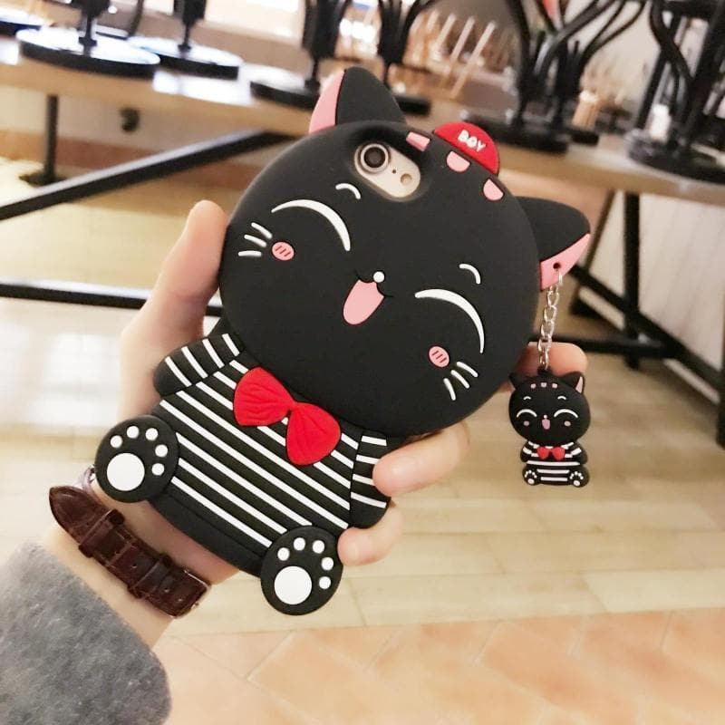 Black/White Kawaii Sailor Kitty Phone Case SP1710165