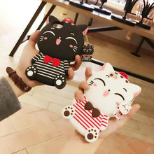 Load image into Gallery viewer, Black/White Kawaii Sailor Kitty Phone Case SP1710165