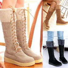 Load image into Gallery viewer, Black/Yellow/Beige Fleece High Snow Boots SP168177