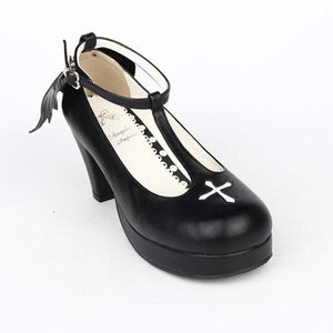 Black Angell Wing And Cross Lolita Princess Shoes SP154045 - SpreePicky  - 5