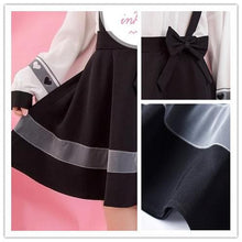 Load image into Gallery viewer, Black Bow Suspender Skirt SP1811976