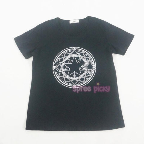 Card Captor Sakura Magic Circle Black T-Shirt SP165360