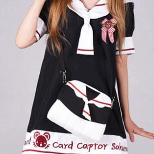 Black [Card Captor Sakura] Seifuku Shoulder Bag Hand bag SP153805 - SpreePicky  - 1