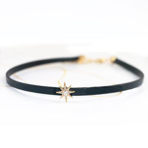 Black Crystal Star choker SP1710354