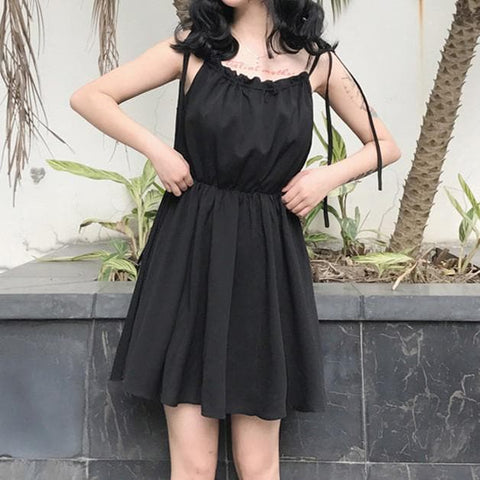 Black Cute Off-Shoulder Dress SP1710102