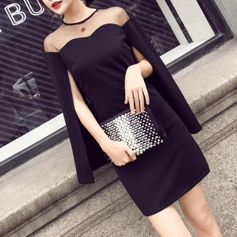 Black Elegant Girly Dress SP1811948