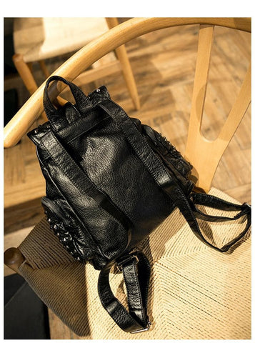 Black Fashion Rivets Backpack SP154299 - SpreePicky  - 5