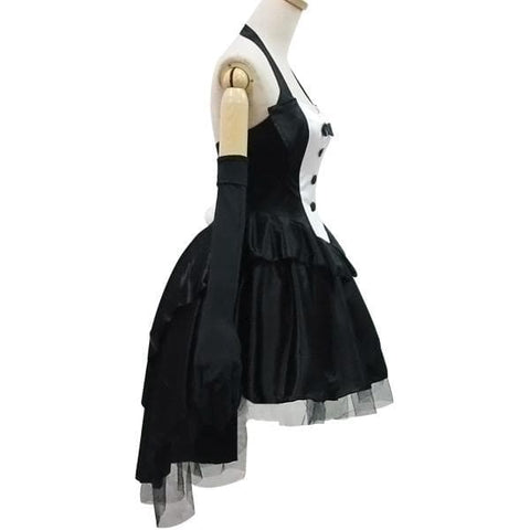 Black Gorgeous Forked Tail Bunny Dress Cosplay Costume SP153688 - SpreePicky  - 4