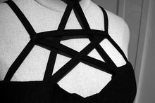 Load image into Gallery viewer, Black Gothic Pentagram Dress SP178902