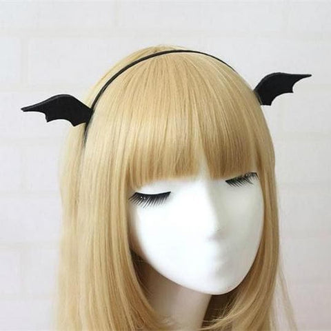 Black Halloween Little Devil Wings Hair Clip/Hairband SP167891