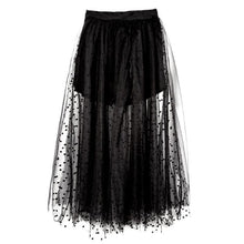 Load image into Gallery viewer, Black High Waist Gauze Maxi Skirt SP1710115