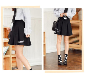 Black Kawaii Bunny Laced Skirt SP1812227