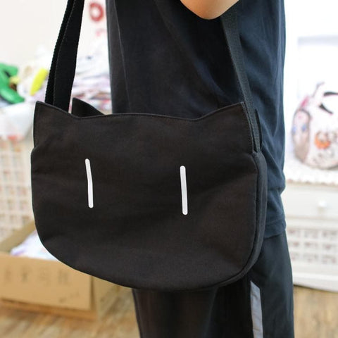 Black Kawaii Cat Shoulder Bag/Crossbody Bag SP178791