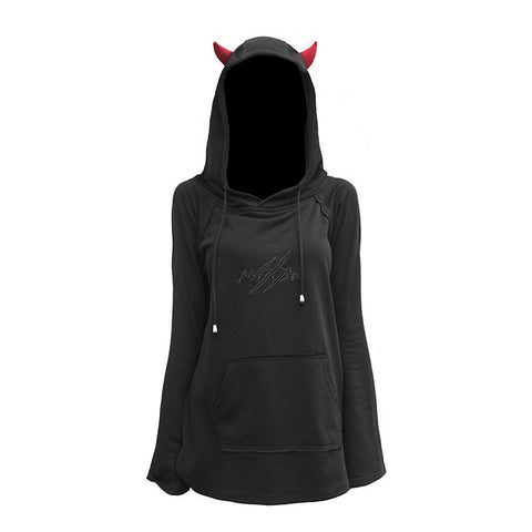 Black Kawaii Gothic Demon Hoodie SP178978